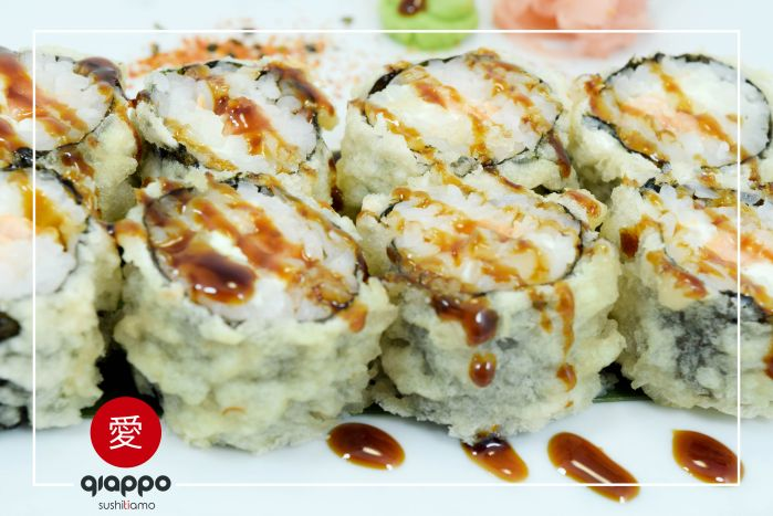 Philadelphia roll in tempura